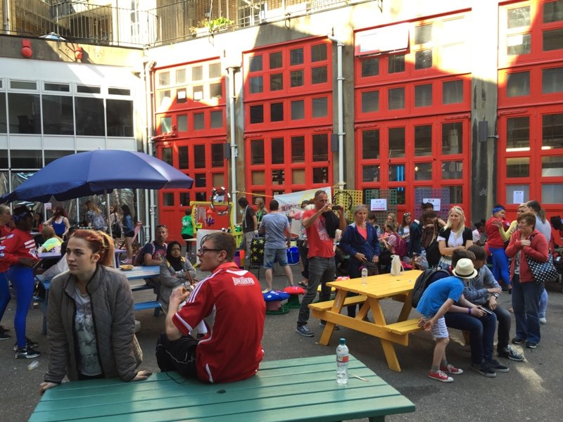 The courtyard in The Station during a busy event